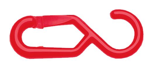 7400008 - Einhängehaken für Kettenständer / rot (Einzelansicht)