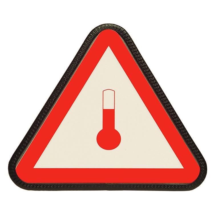 9000060 - Gefahrdreieck zur Kennzeichnung erwärmter Stoffe / SL 260 mm (Einzelansicht)