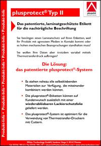 thumbnail plusprotect - Laminatgeschützte Etiketten - plusprotect<sup>®</sup>