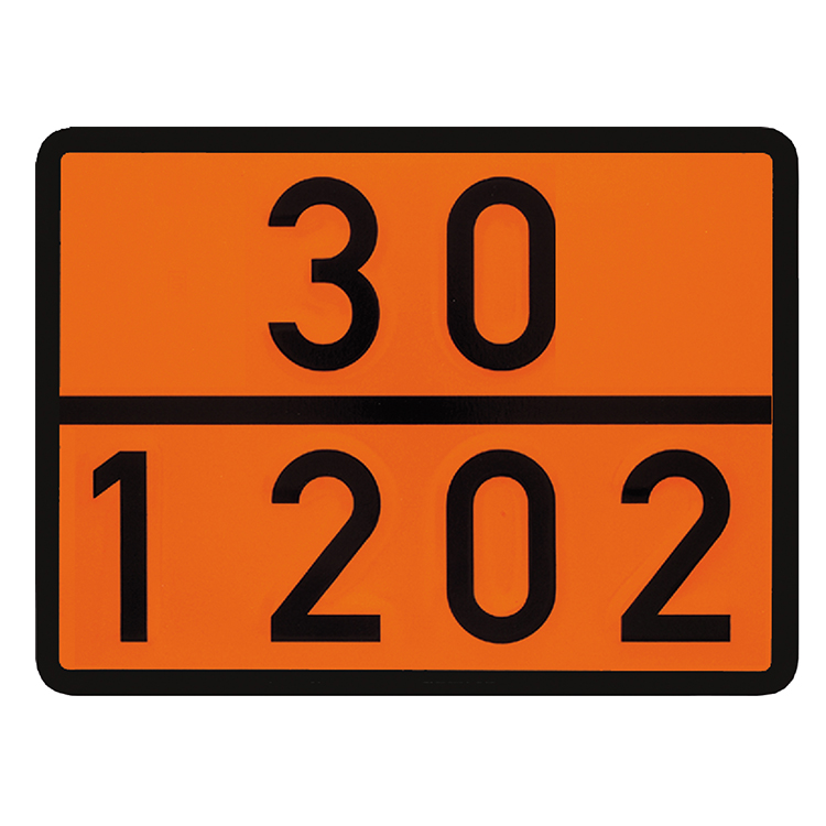 1000240 - Doppelwarntafel starr / 400 x 300 mm (Einzelansicht)