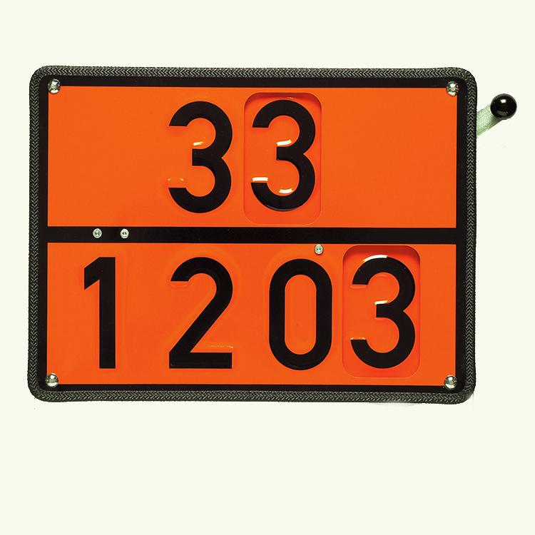 1000270 - Zweistoff-Drehtafel starr / 400 x 300 mm (für Benzin oder Heizöl) (Einzelansicht)