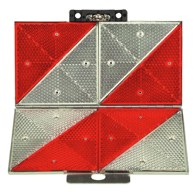 1600060 freigestellt - Parkwarntafel Form B, klappbar / 285 x 285 mm / Prismenrückstrahler (Einzelansicht)