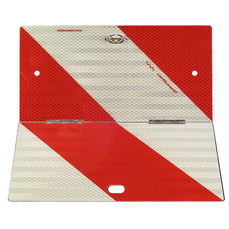1600140 PWT klappbar rechtsw. - Parkwarntafel Form B, klappbar / 285 x 285 mm (Einzelansicht)
