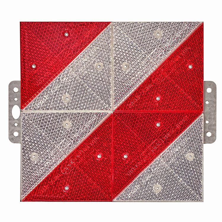 1600565 PWT Prismen starr linksw. - Parkwarntafel Form B, starr / 285 x 285 mm / Prismenrückstrahler (Einzelansicht)