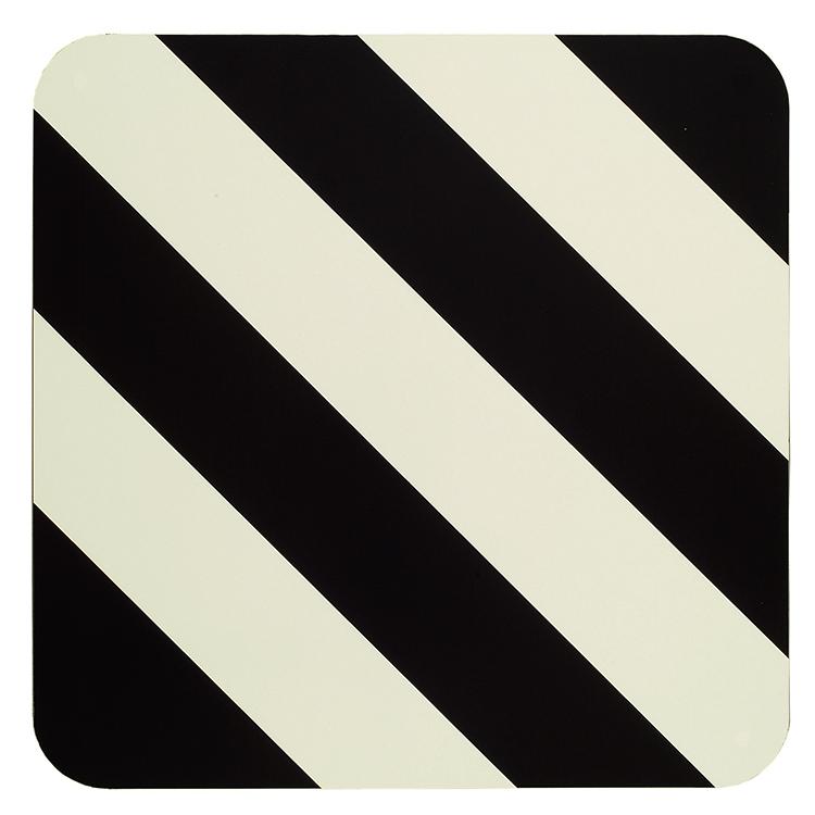 2000000 freigestellt - Elbtunnel-Warntafel / 400 x 400 mm (Einzelansicht)