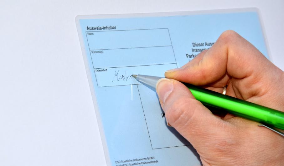 hier unterschreiben aufkleber
