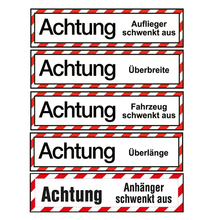 """warntafeln - LKW-Schild """"Achtung"""" / 200 x 800 mm (Einzelansicht)"""