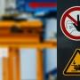 Warnschilder Maschinenbau