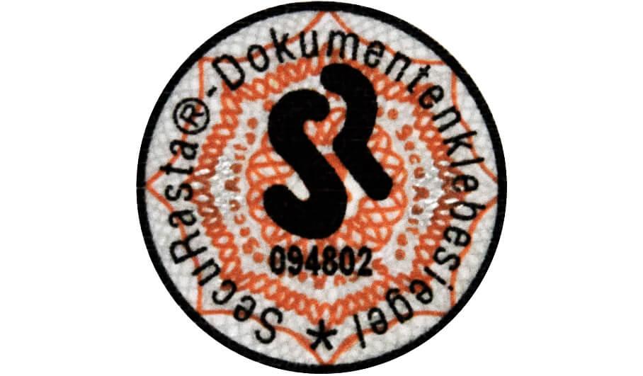 Dokumentenklebesiegel