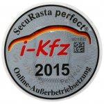 Stempelplakette I-KFZ