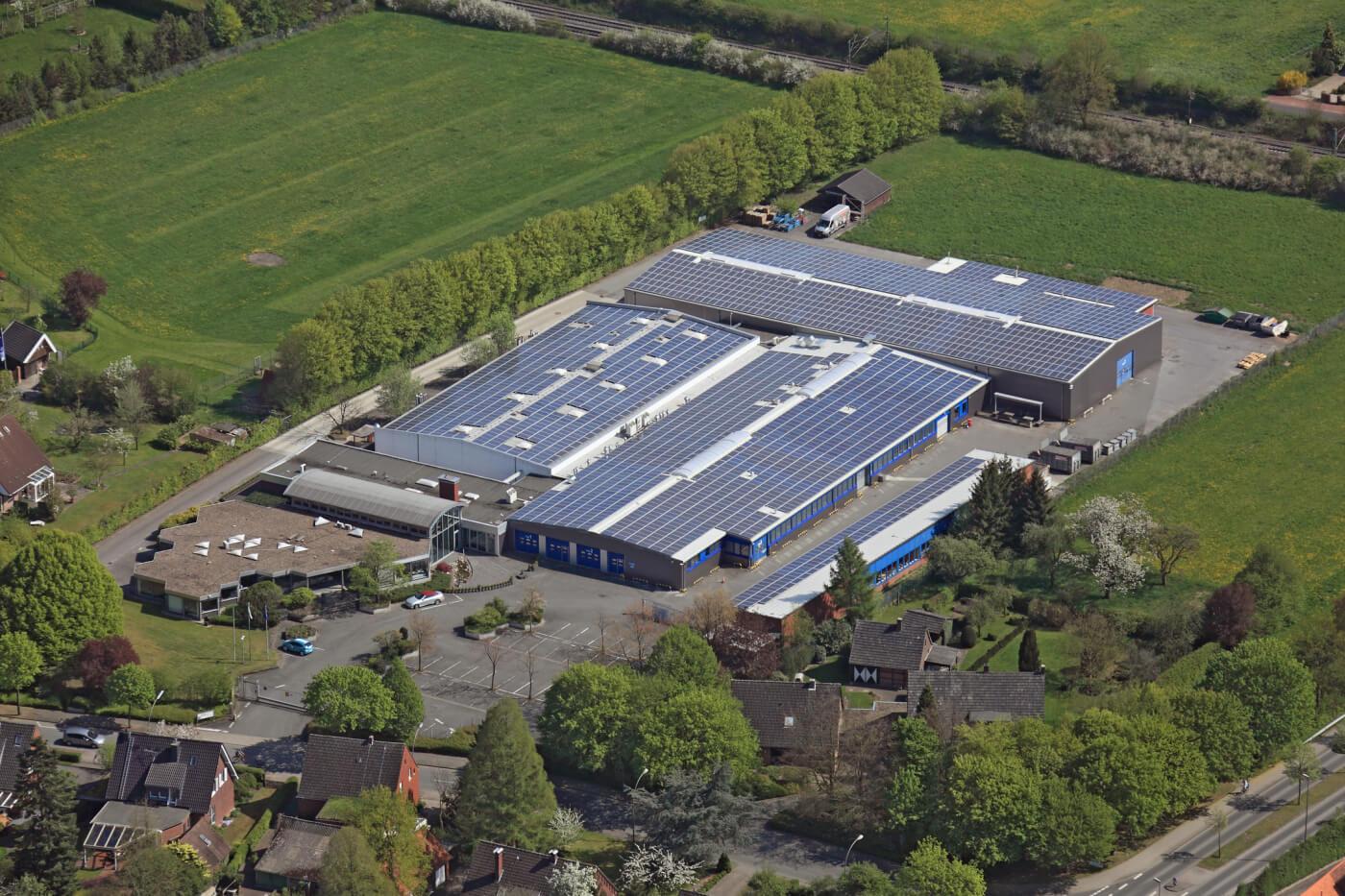 Gelände der Firmengruppe Witte am Standort Münster