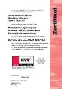 tÜvit zertifikat - Witte safemark GmbH