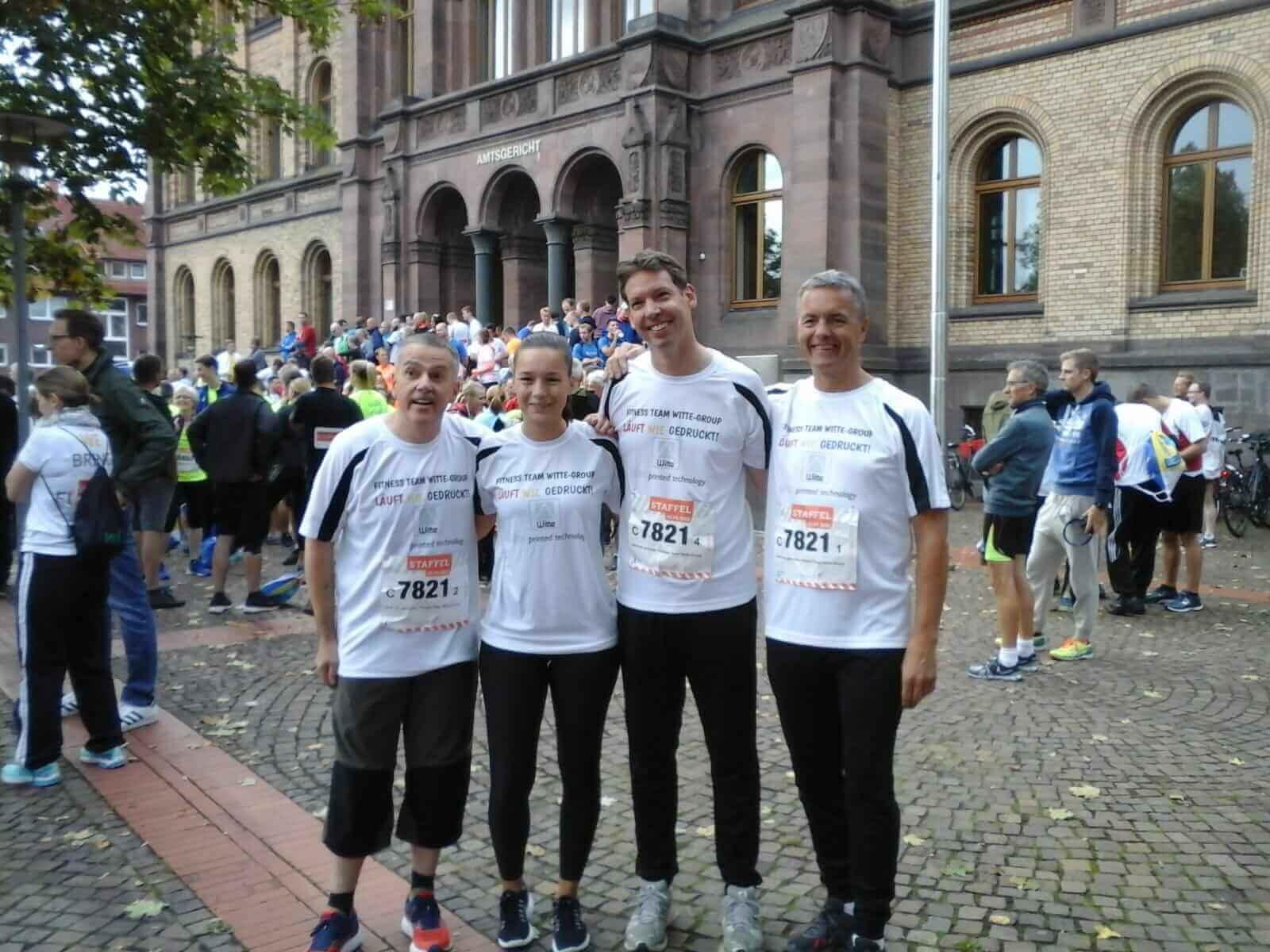 Witte Team läuft Münster-Marathon