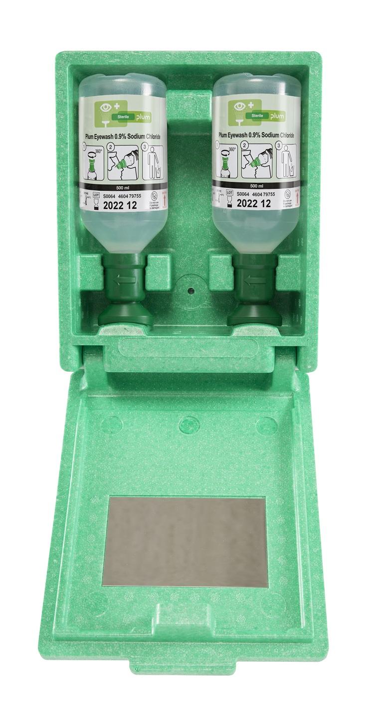 7200058 Augenspülwandbox 2x500 ml - Augenspülstation in Wandbox (Einzelansicht)