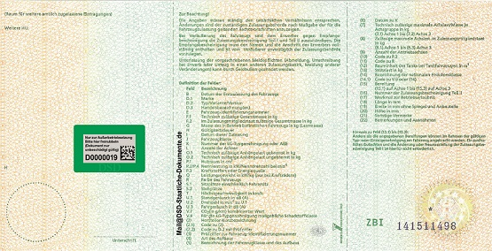 DSD ZB 1 - DSD Staatliche Dokumente® - Impresora de documentos gubernamentales