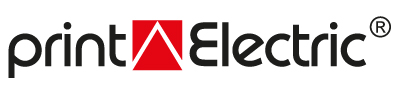 print Electric Logo - Witte plusprint® - printElectric®