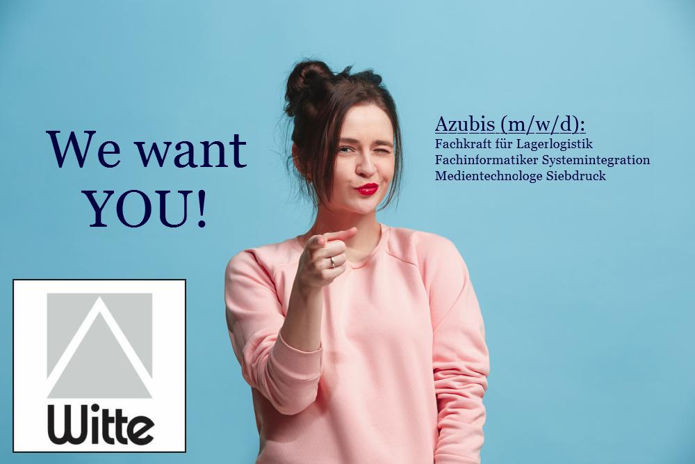 Witte Azubis Wanted 25 11 2020 - WANTED - Azubis (m/w/d), auch zum sofortigen Einstieg