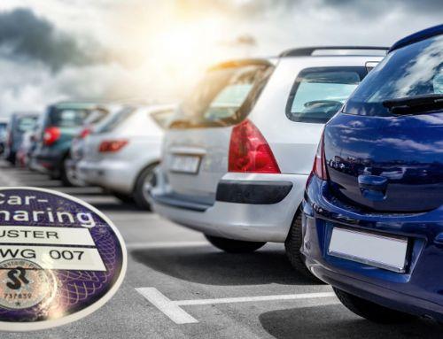 Parkplatzsuche ade! Mit Carsharing-Plakette privilegiert parken.