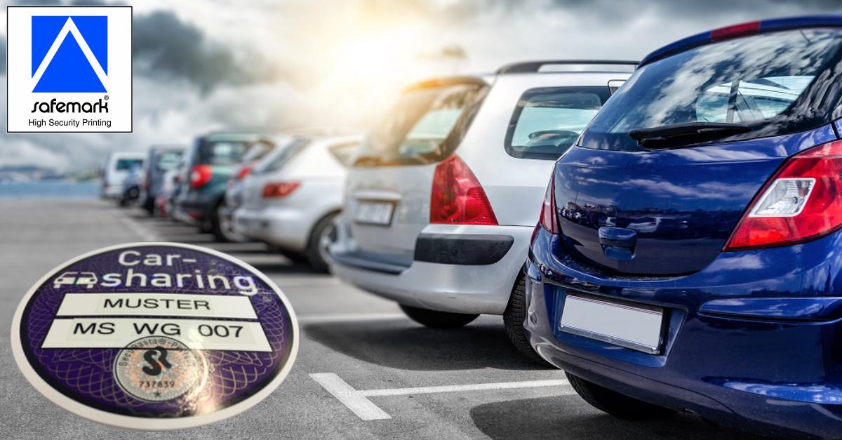 Witte safemark SecuRasta Carsharing Plakette 11 2020 - Parkplatzsuche ade! Mit Carsharing-Plakette privilegiert parken.