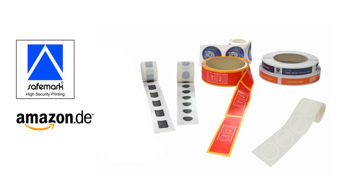 Witte safemark® Verschlusssiegel sind Amazon-konform