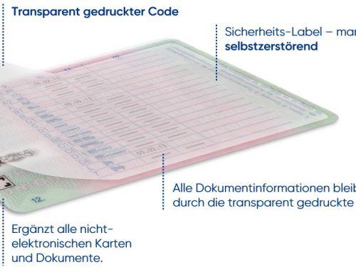 Produktneuheit: Witte, Prismade und Heraeus veröffentlichen Sicherheitslabel mit transparenter gedruckter Elektronik für Dokumentensicherung via Smartphone