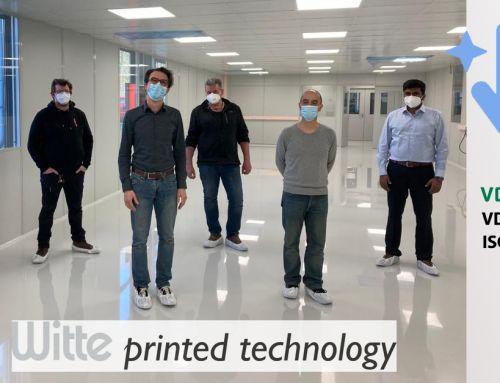 Grundaufbau steht: Printed Electronics Team nimmt neuen Sauberraum in Augenschein